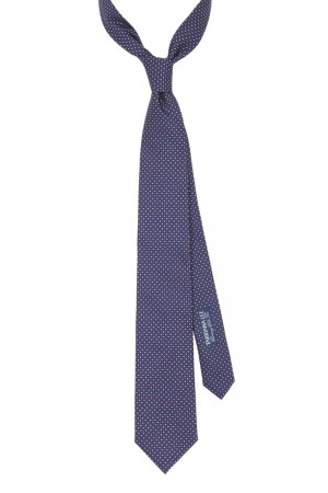Diamond Dot Navy Tie